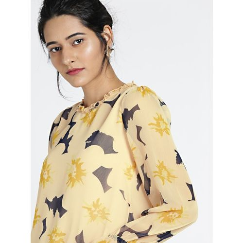 all about you from Deepika Padukone Women Peach-Coloured Printed Top