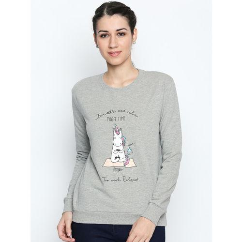 80814f814 Buy Honey by Pantaloons Women Grey Printed Sweatshirt online ...