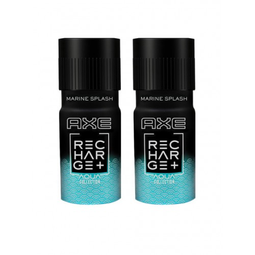 AXE Men Pack of 2 Recharge Marine Splash Deodorant 150 ml