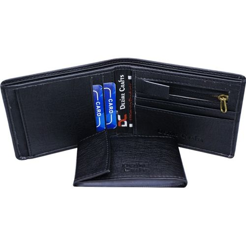 Dezire Crafts Casual Black Artificial Leather Wallet