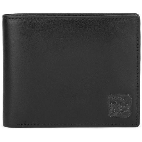Woodland Black Genuine Leather Men's Wallet