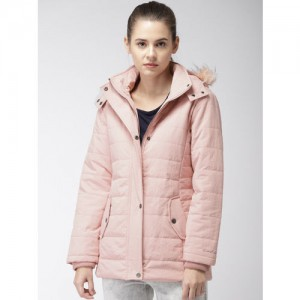 Fort Collins Women Pink Solid Puffer Jacket