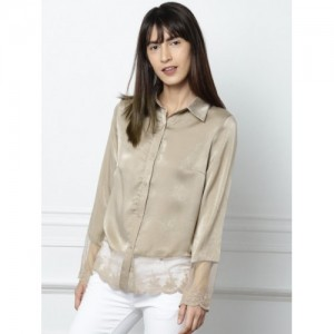 all about you from Deepika Padukone Women Brown Regular Fit Solid Casual Shirt