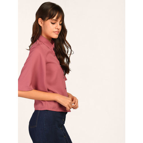 b21060b631b Buy StalkBuyLove Women Pink Boxy Solid Casual Shirt online | Looksgud.in