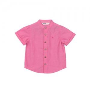 Beebay Boys Pink Regular Fit Solid Casual Shirt