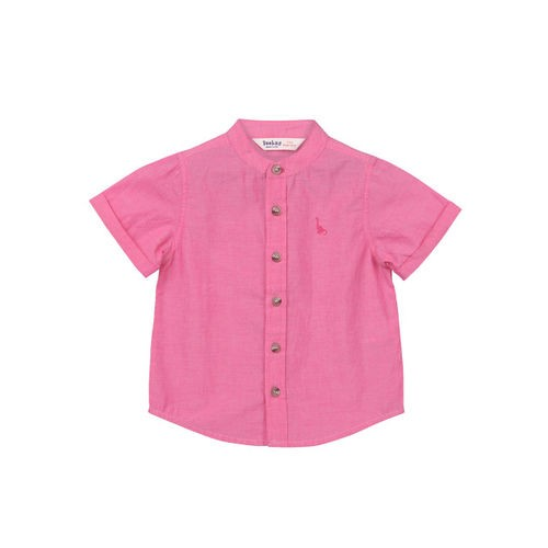 Beebay Boys Pink Regular Fit Solid Casual Shirt