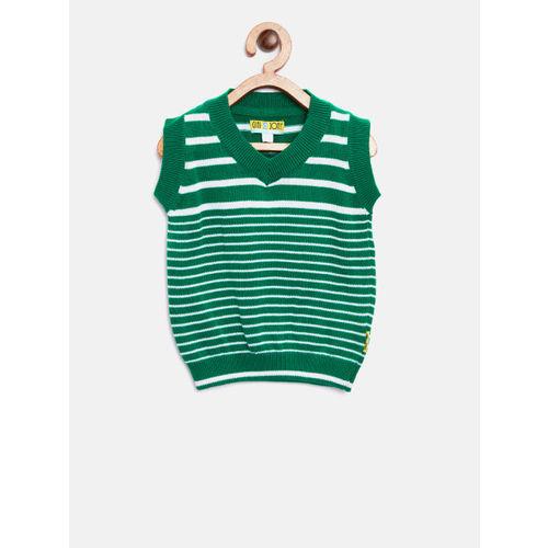 a1ac20b12 Buy Gini and Jony Boys Green   White Striped Sweater Vest online ...