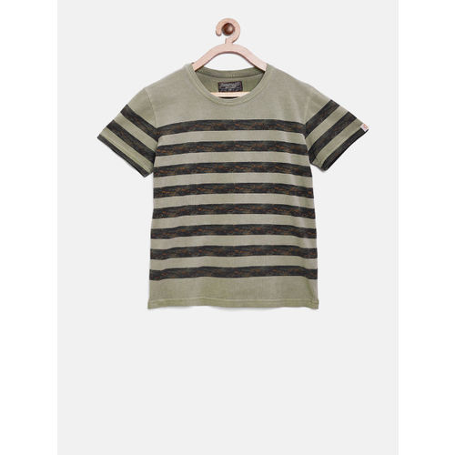 abbfed8abdab Buy Gini and Jony Boys Grey & Blue Striped T-shirt online | Looksgud.in