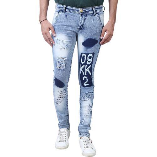 Aarzu Style Slim Men Light Blue Jeans