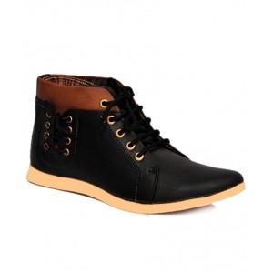 Shoe Island Black Canvas Casual Shoes