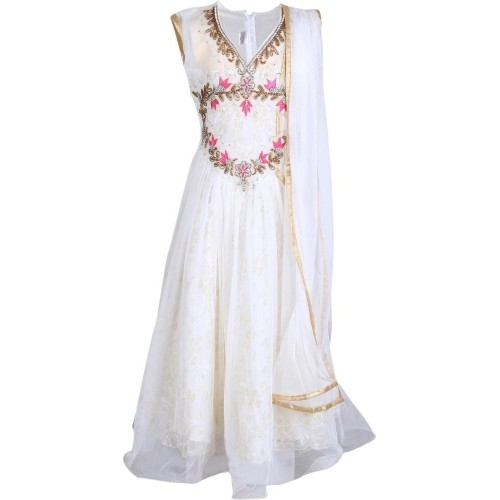 7b7114ef0c1 Buy Crazeis White Cotton Embroidered Girl s Empire Waist Dress ...