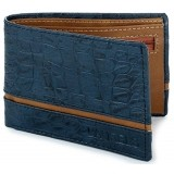 Laurels Titan Blue Leather Solid Men's Wallet