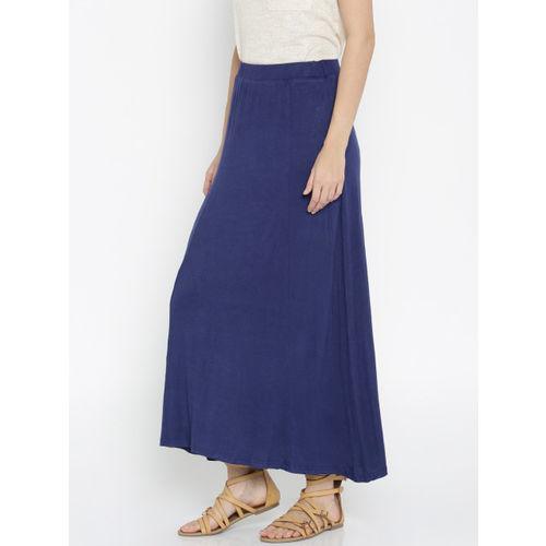 AND Blue Viscose Maxi Skirt