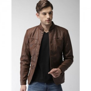 Fort Collins Men Coffee Brown Solid Tailored Jacket