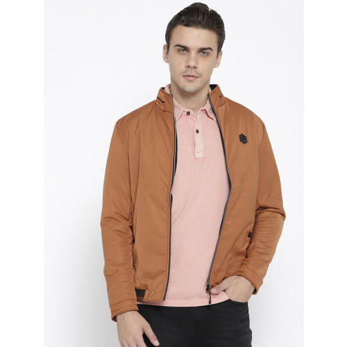 c01d4bead Buy Fort Collins Men Rust Brown Solid Lightweight Padded Jacket ...