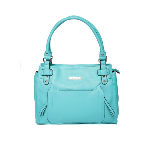 Caprese Blue Solid Shoulder Bag