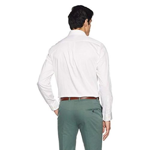 Arrow White Solid Regular Fit Formal Shirt