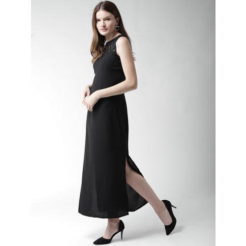 Mast & Harbour Women Black Solid Maxi Dress