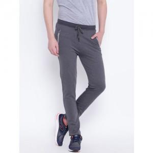 Fort Collins Charcoal Grey Self-Design Track Pants