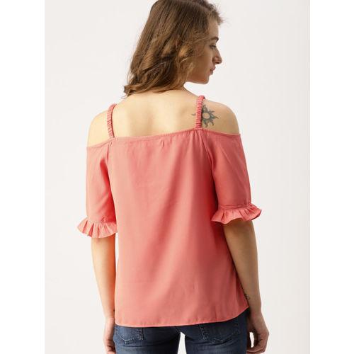 DressBerry Women Orange Solid Top