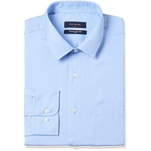 Peter England Sky Blue Cotton Solid Slim Fit Formal Shirt