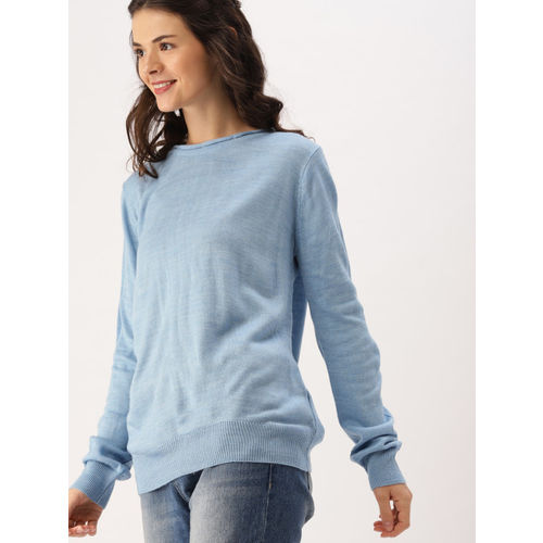 DressBerry Women Blue Solid Pullover