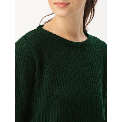 DressBerry Women Green Solid Pullover