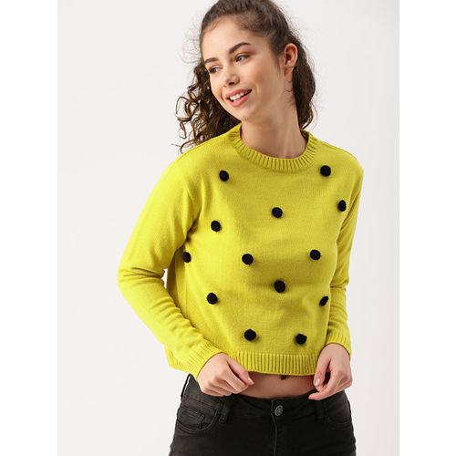 DressBerry Women Mustard Solid Pullover