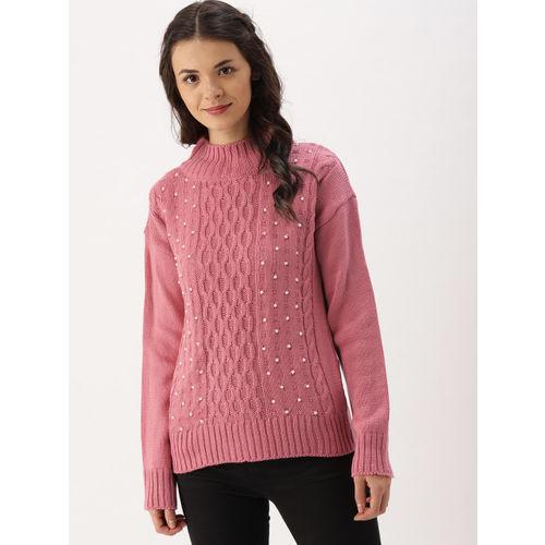 c479ec195 DressBerry Women Pink Embellished Pullover  DressBerry Women Pink  Embellished Pullover ...