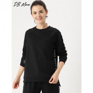 DressBerry Move Women Black Printed Sweatshirt