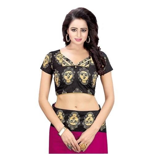Buy Winza Designer Pink Chanderi Silk Saree With Blouse