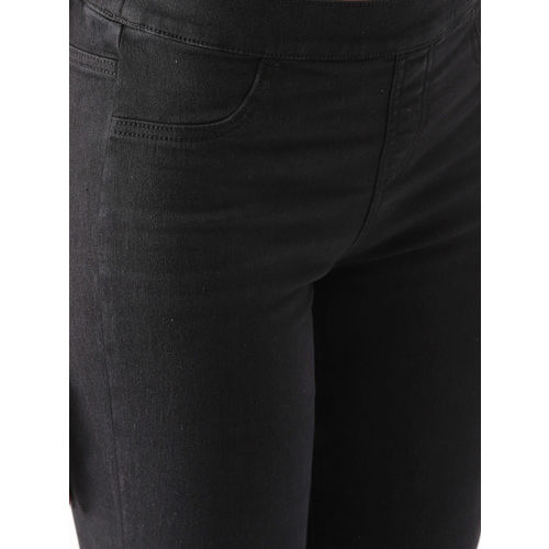 DressBerry Black Solid Jeggings