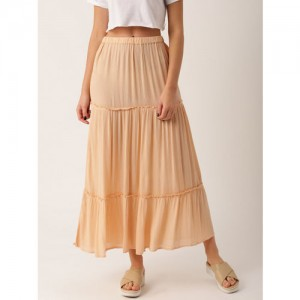 DressBerry Peach Maxi Skirt
