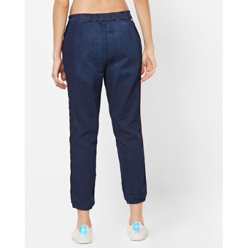 LEVIS Blue Cotton Skinny Fit Cuffed Jeans with Waist Tie-Up
