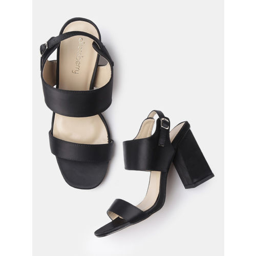 72fe1d50f8d8 Buy DressBerry Women Black Solid Block Heels online