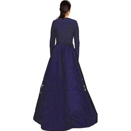 Siddeshwary Dark Blue Fab A-line Gown