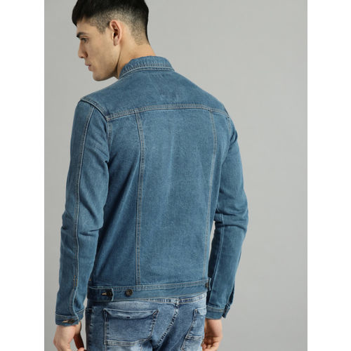 Roadster Blue Solid Denim Jacket