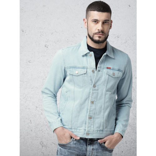 Ecko Unltd Men Blue Solid Denim Jacket