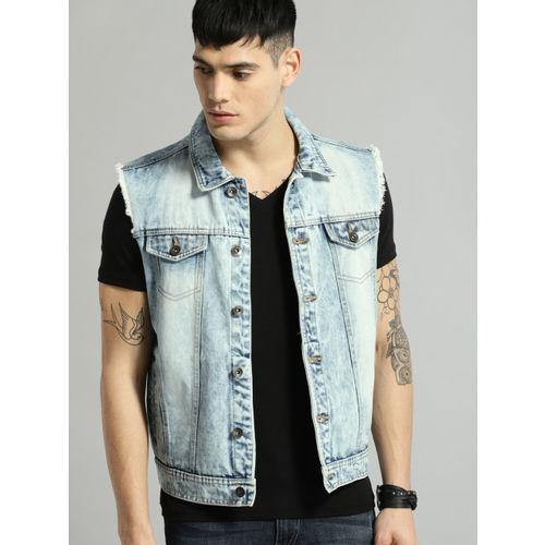 Roadster Blue Sleeveless Denim Jacket
