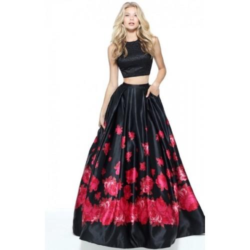 784b90554f7db4 Buy Sky Global Black Floral Printed Lehenga Choli online   Looksgud.in