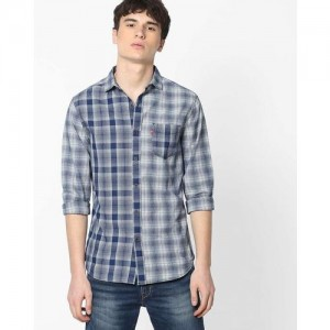 LEVIS Checked Cotton Shirt with Patch Pocket