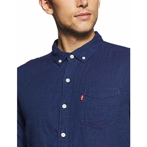 Levi's Men's Solid Slim Fit Casual Shirt