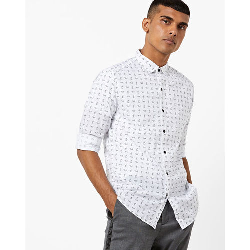LEVIS Printed Slim Fit Shirt with Curved Hemline
