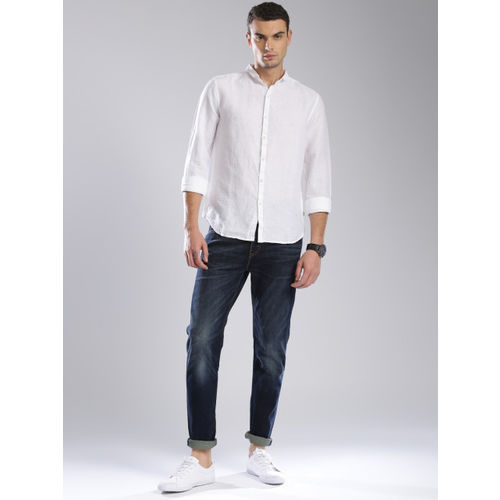 Levis Men White Self-Design Casual Shirt