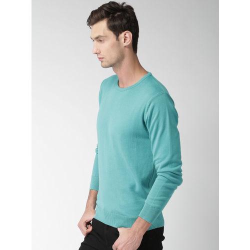 Mast & Harbour Men Blue Solid Pullover