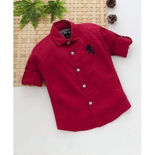 JASH KIDS Jash Kids Full Sleeves Solid Shirt - Red