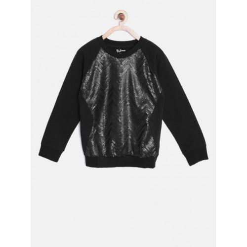 Gini and Jony Black Sequinned Sweatshirt