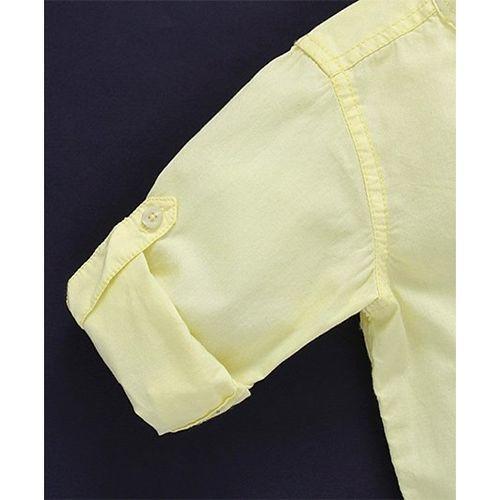 Babyhug Full Sleeves Solid Colour Shirt - Yellow