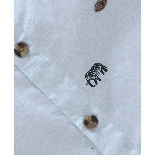 JASH KIDS Jash Kids Full Sleeves Cotton Printed Shirt - Sky Blue