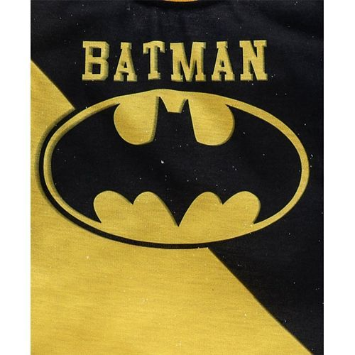 Game Begins Full Sleeves Tee Batman Print - Black Yellow